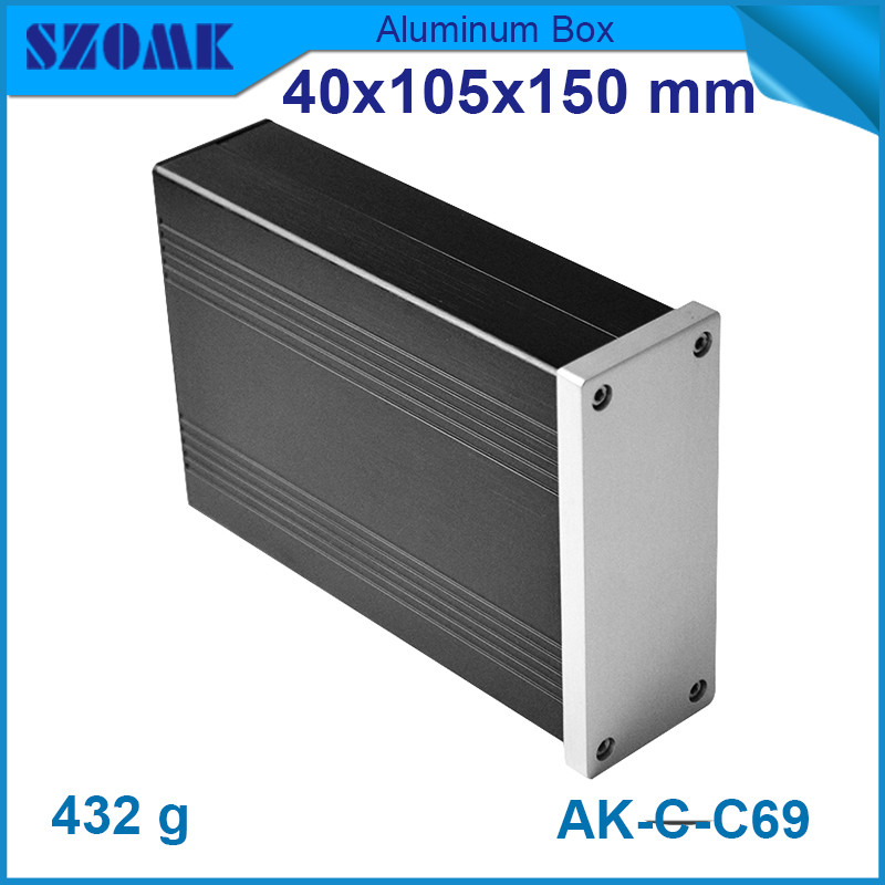 4pcs lot extruded aluminum instrument enclosure for electronic anodizing junction box 40 105 150mm