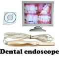 Dental Oral endoscopio endoscopio cámara Intraoral mount 6 led hogar a prueba de agua cámara USB para Oral nariz
