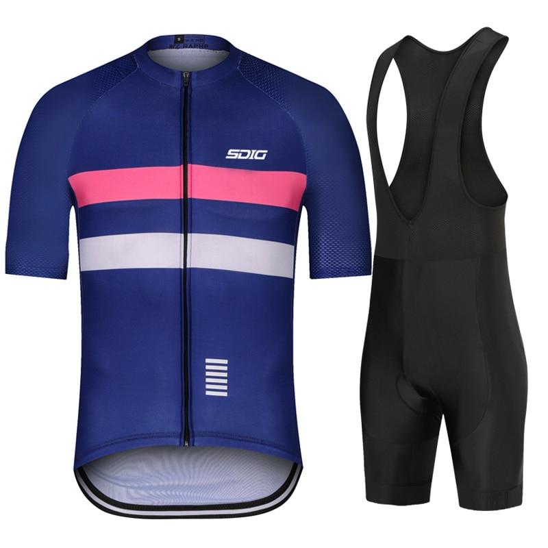 2019 Mens Cycling Jersey Set Kit Outfits Bike Bicycle Team Clothing Shirt Shorts