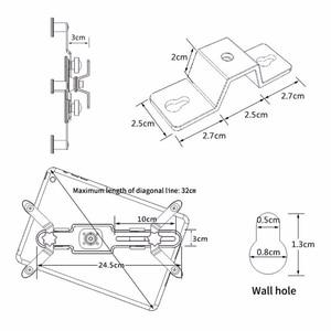 Image 5 - Voor Ipad Wall Mount Tablet Houder Universele 7.9 12 Inch Ondersteuning Tablet Stand Voor Ipad Samsung Xiaomi 360 Rotatie tablet Beugel