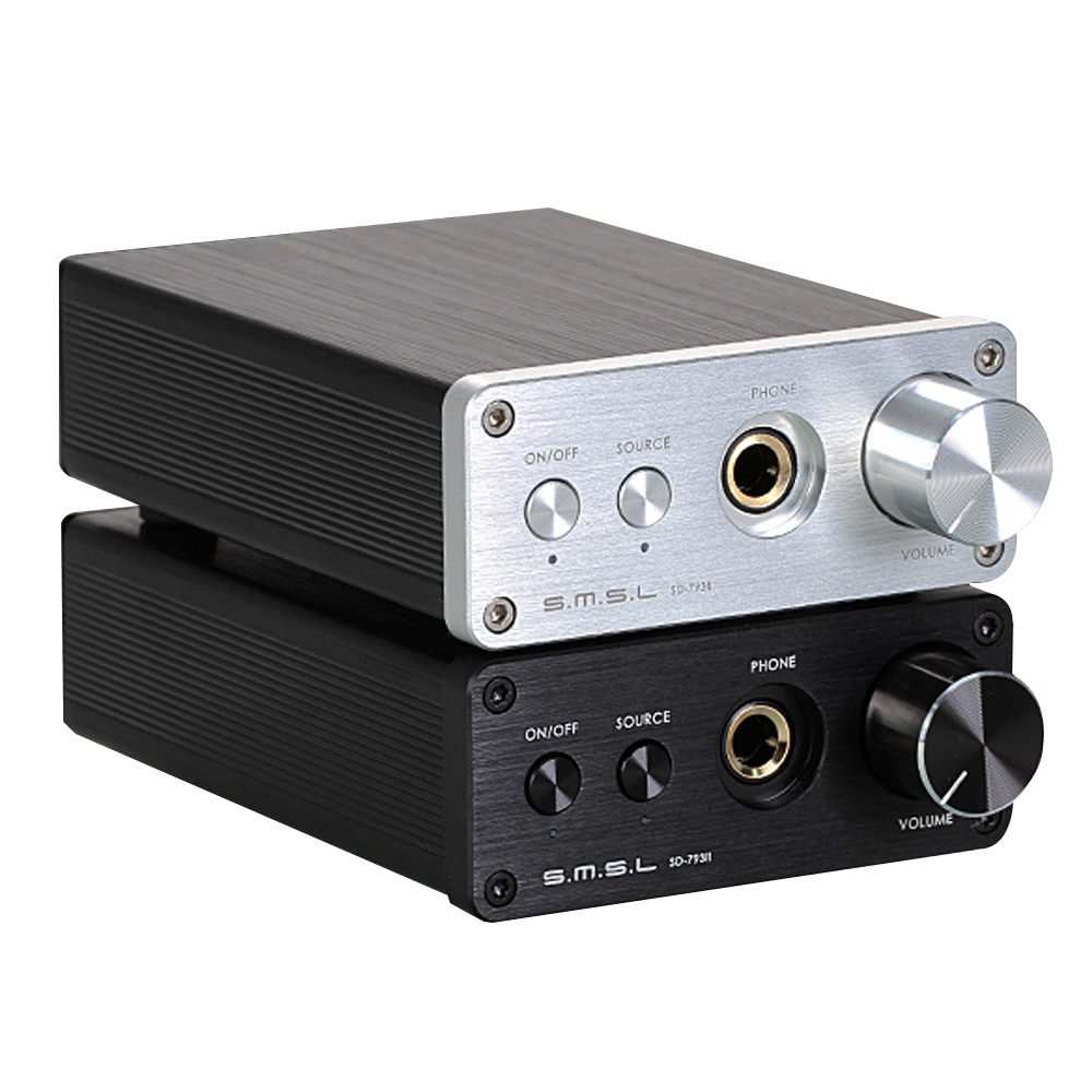SMSL SD793-II MINI HIFI Headphone Amplifier PCM1793 DIR9001 DAC Digital Audio Decoder Amplifier Optical Coaxial Input 24BIT dac 01bii digital decoder amplifier headphone amp usb spdif dac hifi coaxial optical 24bit 96khz silver black