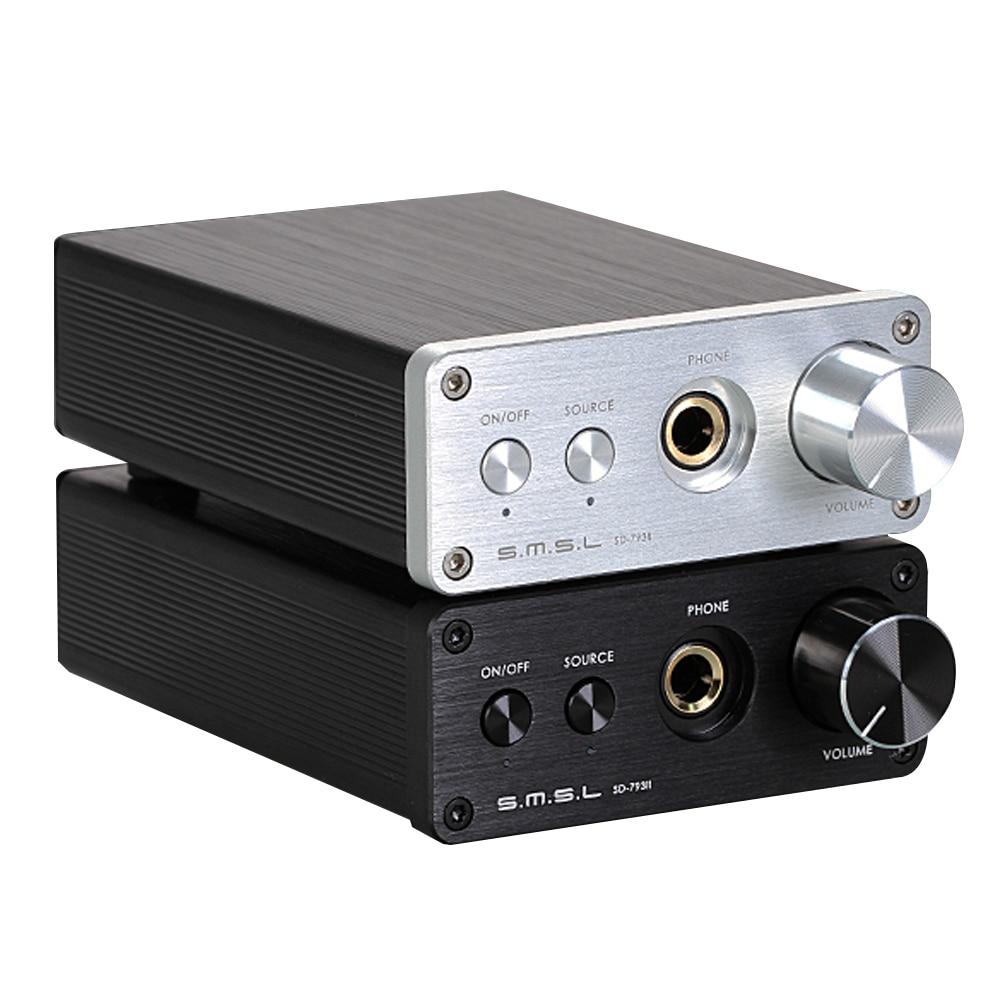 SMSL SD793-II MINI HIFI Headphone Amplifier PCM1793 DIR9001 DAC Digital Audio Decoder Amplifier Optical Coaxial Input 24BIT smal a6 hifi digital audio amplifier usb dac dsd512 usb optical coaxial lp player cd analog input headphone out amplifier 50w 2