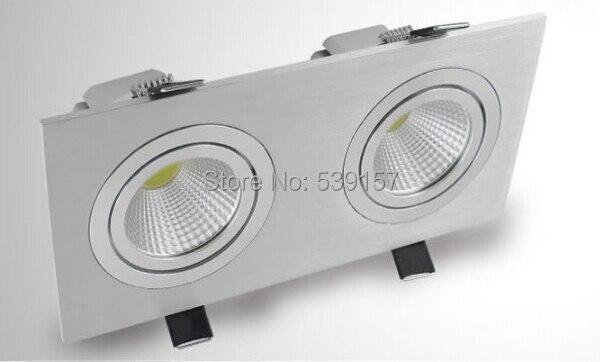 Бесплатная доставка 10 шт. 20 Вт двойной утопила Подпушка света Кабинет лампы Теплый Холодный белый для спальни освещения