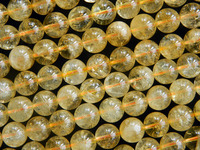 Free Shipping Natural Clear 10mm Citrine Round Crystal Beads Stone For Jewelry Making Min Order Is