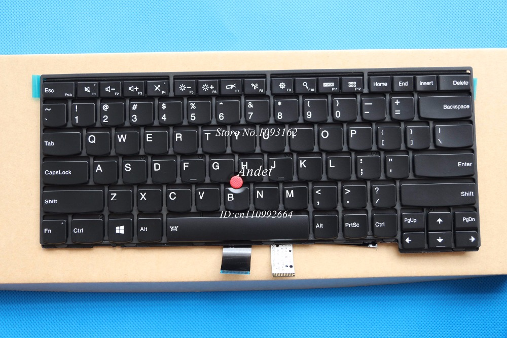 New Original for Lenovo ThinkPad T440 T440P T440S T431S T450 T450S T460 US Backlit Keyboard 04X0101 04X0139 new us laptop keyboard with backlit for lenovo yoga 14 thinkpad s3 series p n 00wh763 47m004d sn20f98414 cb 84us mp 14a83usj442