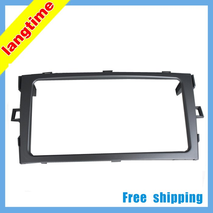 Car refitting DVD frame,DVD panel,Dash Kit,Fascia,Radio Frame,Audio frame for 2011 Toyota Verso,2Din free shipping car refitting dvd frame dvd panel dash kit fascia radio frame audio frame for 2012 kia k3 2din chinese ca1016