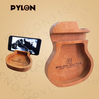 Pylon Guitar Wooden Guitar Shape Cell Phone/ Mobile Phone Stand Holder