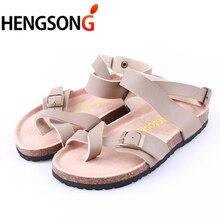 2017 Summer Fashion Unisex Lovers Women Sandals Flats Cork Gladiator Beach Shoes Slippers Zapatos Mujer Sandalias Plus Size 45