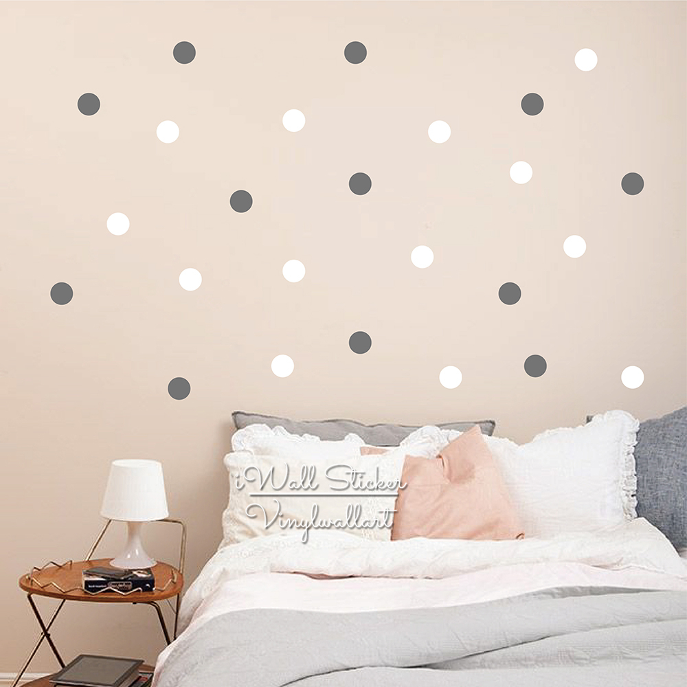 popular dots wall decals buy cheap dots wall decals lots from 2 colors dots wall sticker baby nursery 5cm polka dot wall decal two colors dots modern