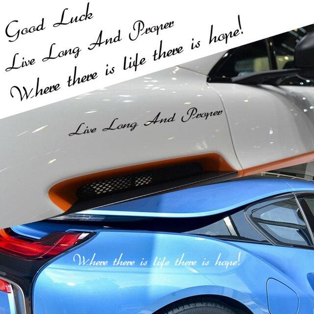 Custom make oem car styling heather font words style decor family sticker labelsdie