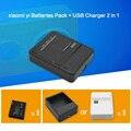 1010 мАч xiaomi yi Аккумуляторы Пакет Стол USB Зарядное Устройство для xiaomi yi Действий Камеры xiaoyi спорт cam yi аксессуары