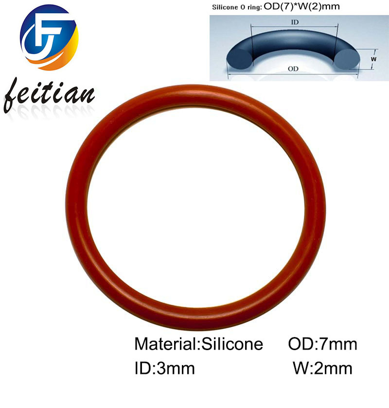 100piece Size 7mm 3mm 2mm Silicone o ring seal dichtung Red Gasket of motorcycle part consumer