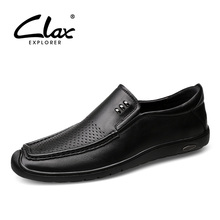 CLAX Mens Boat Shoes 2019 Summer Man Loafers Casual Walking Footwear Male Moccasins Breathable Holes
