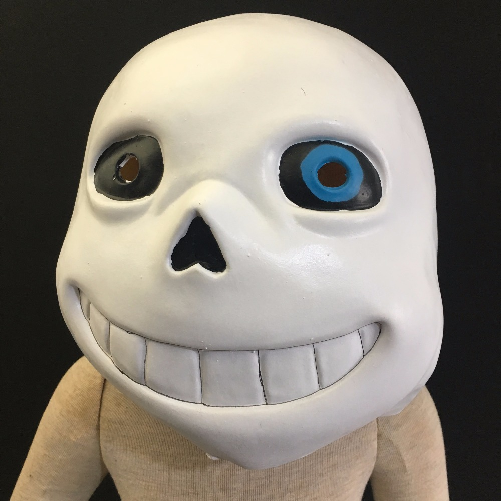 Undertale Kids Mask Blue Eyes Sans Cosplay Latex Full Face Head Helmet Halloween Child Masks Props