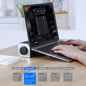 Image 4 - LLANO 기본 노트북 스탠드 냉각 래드 속도 조절 노트북 쿨러 데스크 팬 노트북 쿨러 스탠드 컴퓨터 태블릿 전화 홀더
