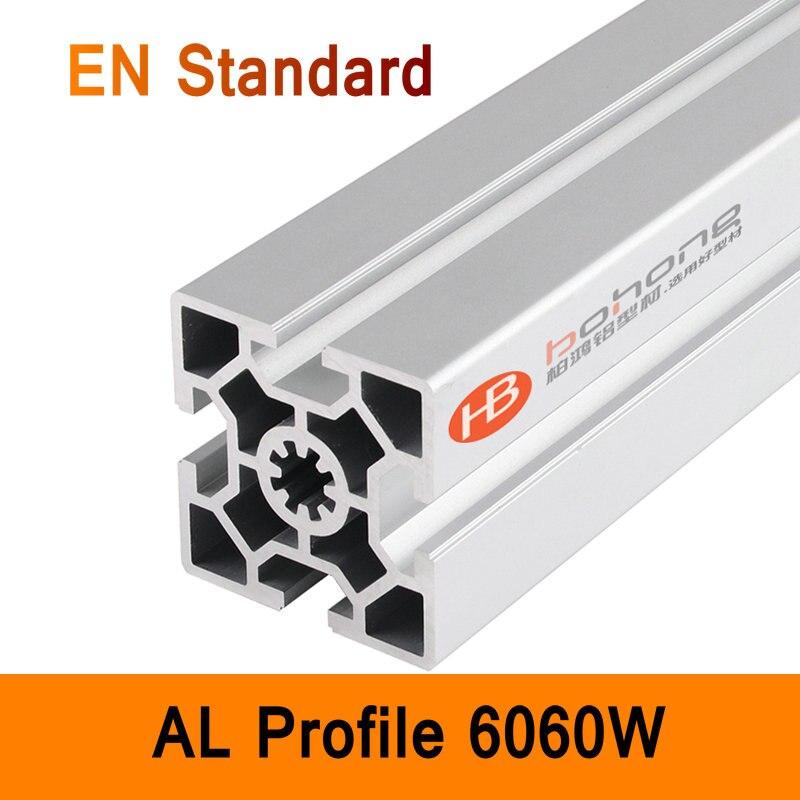 6060W Aluminium Profile EN Standard DIY Brackets Aluminium AL Extrusion CNC 3D DIY Printer Frame Parts Aluminum DIY Frame T Slot