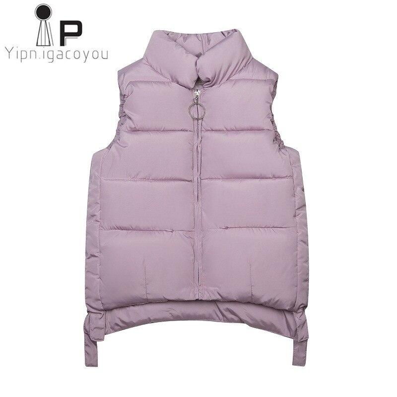 Harajuku Autumn Winter Vest Women Waistcoat Plus size Red White Cotton Short Student Women Sleeveless Jacket Elegant Female Vest