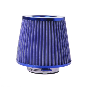 Red and Blue Universal Vehicle Air Intake Chrome Open Top Cone Air Filter Breather 3 Inlet lucesolara 5044 2pa chrome red page 3