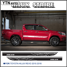 free shipping 2 PC hilux side stripe graphic Vinyl sticker For Toyota Hilux Revo SR5 M70 M80 15 2016