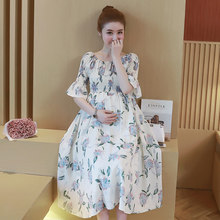 Maternity dress Summer Pregnant Women Print Chiffon Dresses Photography Dresses women Maternity Clothing Pregnant Dress(China)