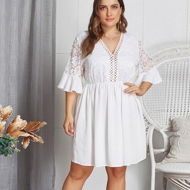 White lace sexy dress ladies 2
