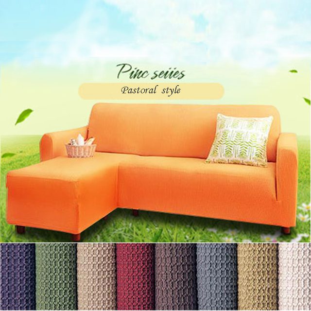 Customize Flexible Stretch Farmhouse All Inclusive Elastic Sofa Cover Royal  L Shaped Stretch Slipcover