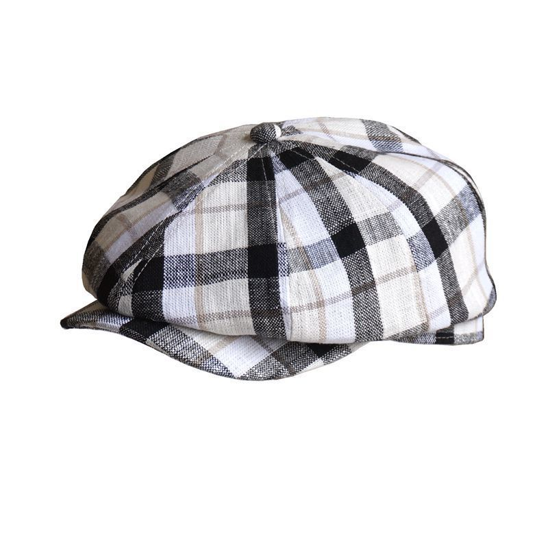 Beckyruiwu Beret-Hat Newsboy-Hats Fitted Linen Male Cotton Fashion Women And 56-59cm