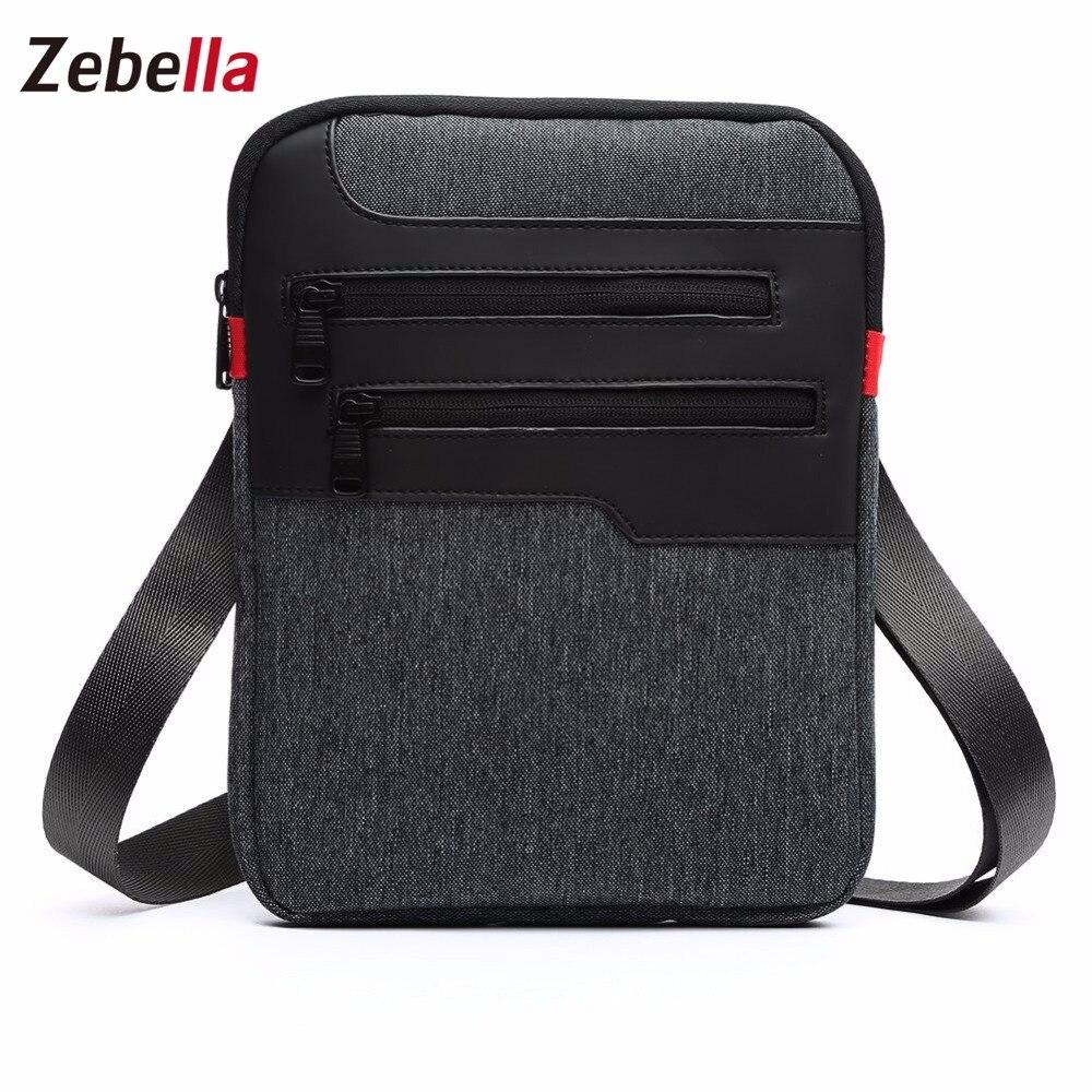 Zebella Casual Mens Messenger Shoulder Bag para iPad Satchel Nylon - Bolsos - foto 3