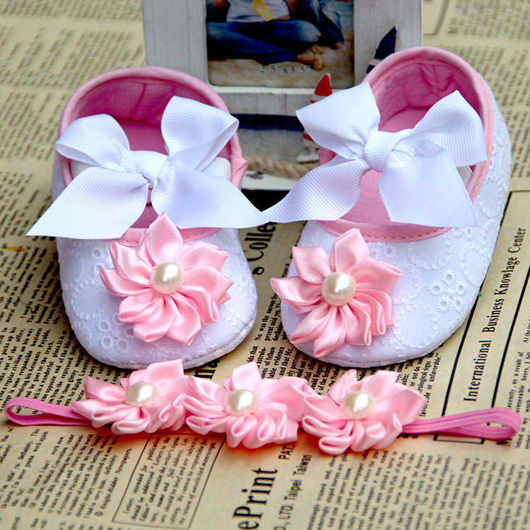 aby slippers/pearl crown baby boots fashion shabby flowers de bebe,shoes infant girlss shabby flower sapatos infantis menina