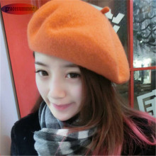 Fashion Solid Color Winter Warm Women Girl Beret Hat Casual Beanie Cap AM9990