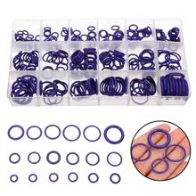 270pcs Purple 18 Sizes Assortment Rubber O-Ring Seals Washers Gasket Automobile Air Conditioning Compression Engine Lock Ring 225pcs rubber o ring r22 r134a car air conditioning washer seals assortment purple