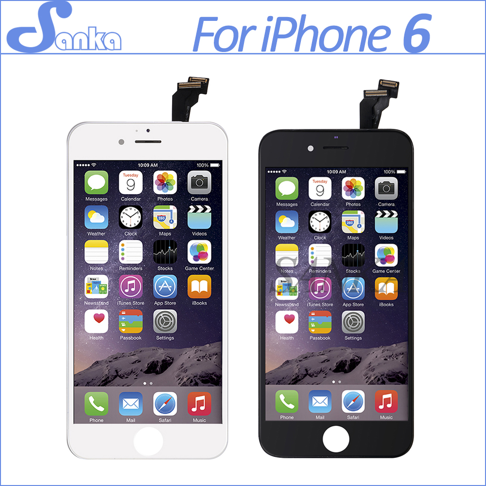 SANKA 10PCS Replacement For iPhone 6 4.7 LCD Display Touch Screen Digitizer Assembly Mobile Phone LCD Ecran Pantalla Parts