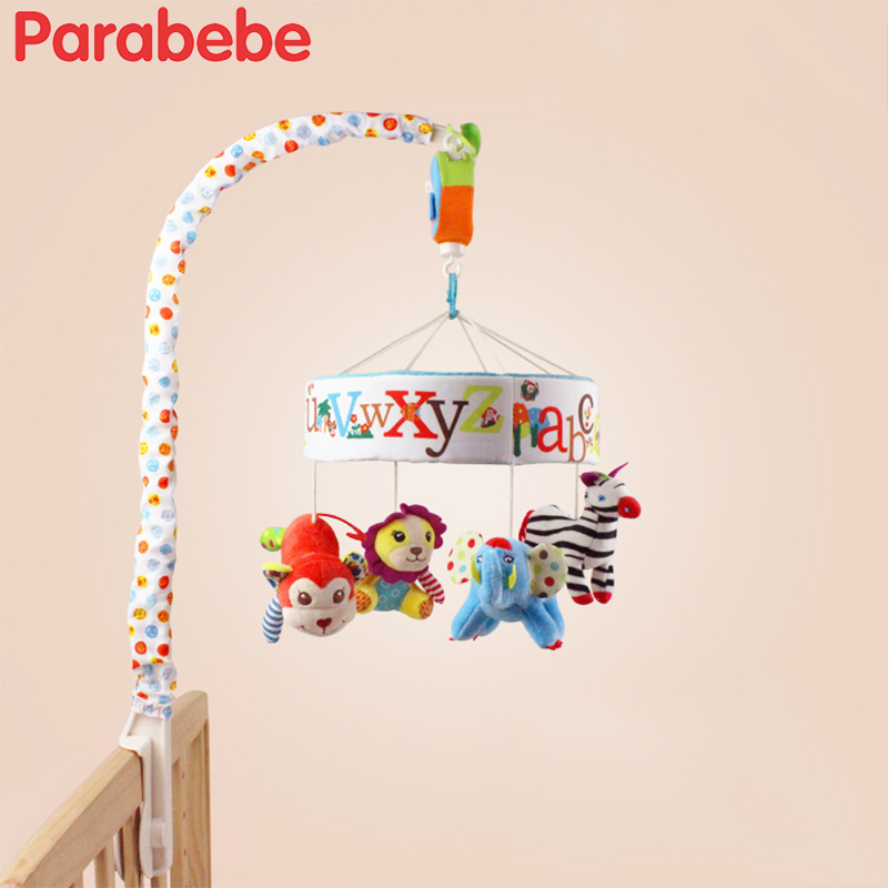 Baby toys White baby rattles mobiles Bracket Set Baby Crib toddler Mobile Bed Bell 0 12 months Boy girls infant soft toy for cot ...