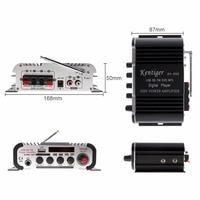 HY 600 DC12V 5A2CH HI FI Car Audio Power Amplifier FM Radio USD MP3 Stereo Digital