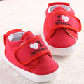 Cute  I Lova Papa and Mama Baby Shoes Infant Newborn Toddler Canvas Prewalkers Shoes Soft Bottom Indoor Sapatos Baby Babe Shoes