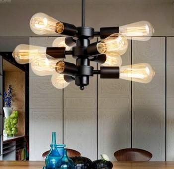 Nordic Loft Style Besi Seni Droplight Edison Liontin Lampu untuk Ruang Makan Lampu Gantung Vintage Industri