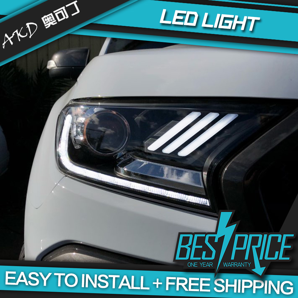 Akd Cars Styling Headlight For Ford Ranger Everest 2015