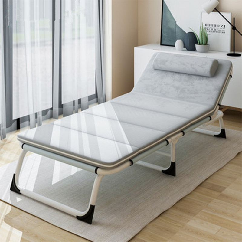 Fashion Folding Bed Sun Lounger Sleeping Bed Office or Outdoor Camping Chaise Longue Nap Bed Adjustable Space Saving