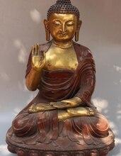 24 «Клеймо Китайский Тибетский Буддизм Бронзовый Золотой Свинка Шакьямуни Статуя Будды