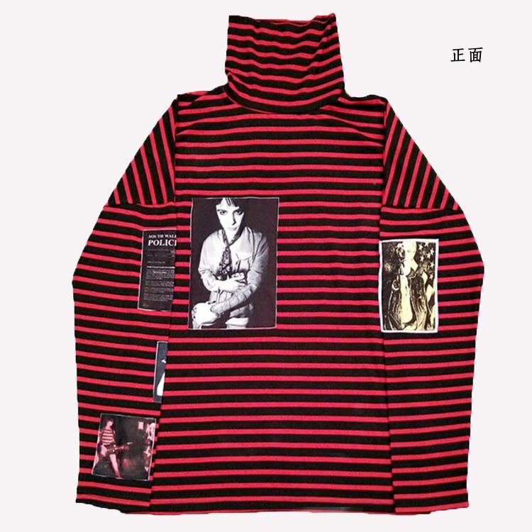 kpop new Blackpink Stripes loose RED women Round Collar hoodies exo Korean loose Harajuku long sleeve sweatshirts women clothes
