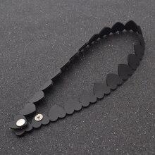 Мода Панк Черный Сердце Любовь Искусственной Кожи Женщины Воротник Choker Ожерелье Готический Ювелирные Изделия
