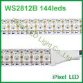 1m ws2812b ws2812 rgb led strip ,ws2812 individually addressable ic,black/white pcb IP20 or IP65 dc 5v