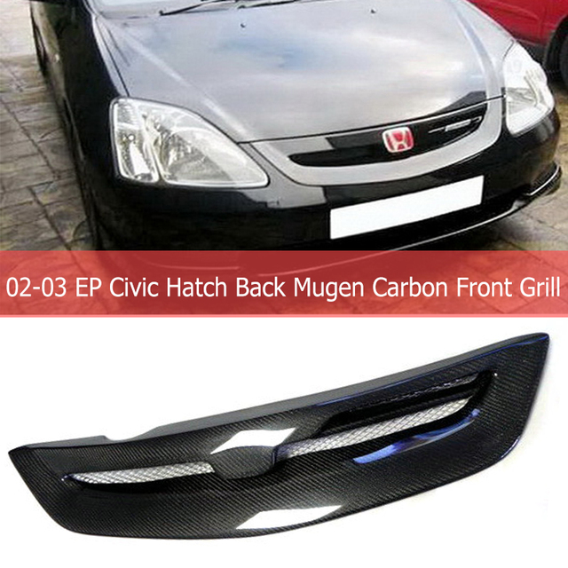 Us 121 95 10 Off Car Parts For Ep Civic Hatch Back 02 03 Mugen Cf Carbon Fibre Front Grill Car Styling Body Kit Accessories In Bumpers From