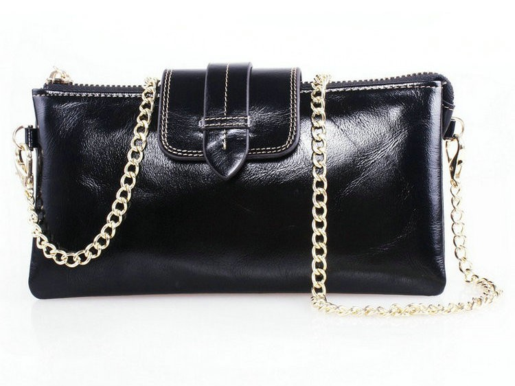 black leather wallets with chain