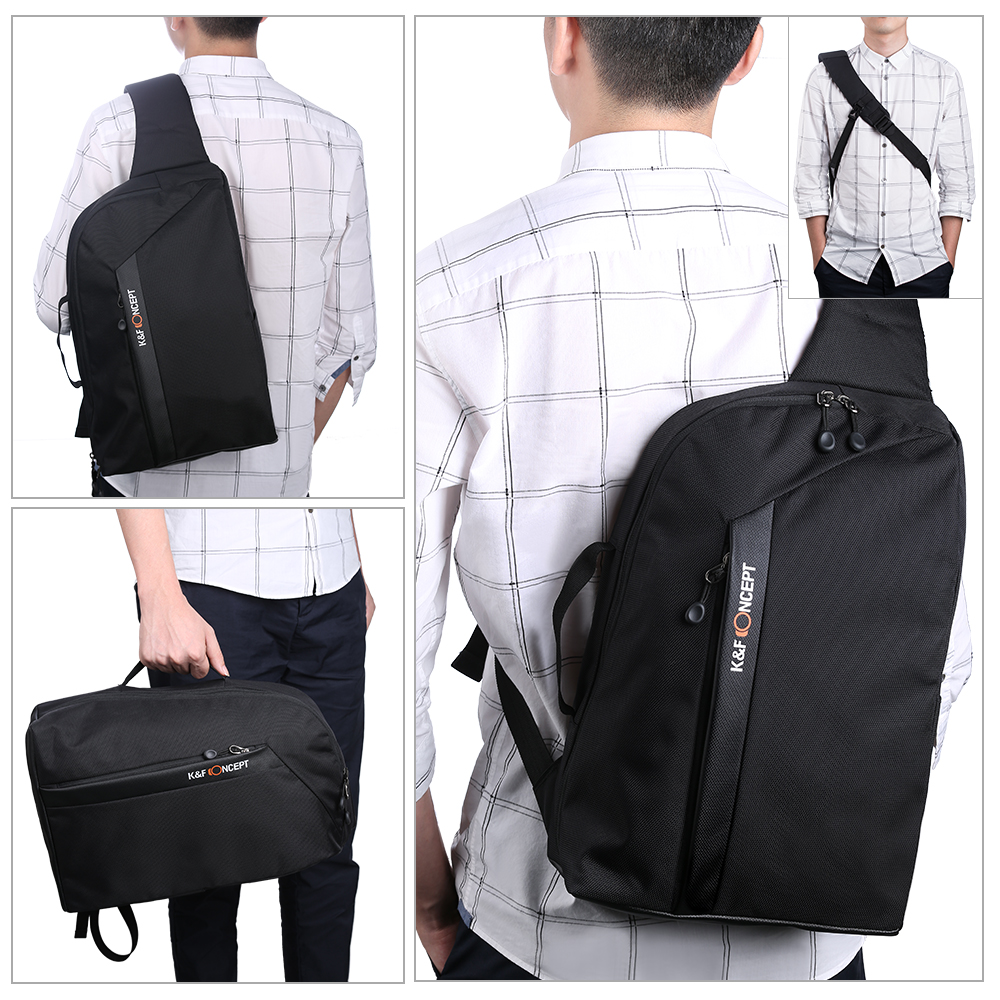 K F CONCEPT Camera Sling Backpack for DSLR Mirrorless Cameras Lens Accessories and 13 3 Laptop