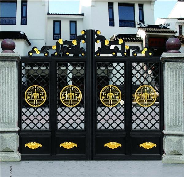 Home Aluminium Gate Design / Steel Sliding Gate / Aluminum Fence Gate Designs Hc-ag17
