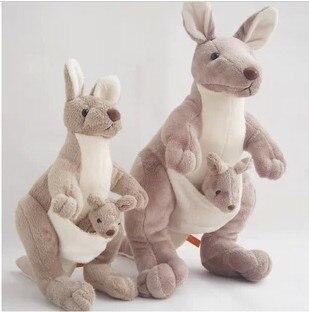 Free shipping 45cm Mother and kid kangaroo doll in Australia kangaroo plush toy