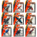Matchbox City of Heroes Original aircraft model Toy airplane 68982 Set of 15 F-35 fighter Helicopters gift free shipping