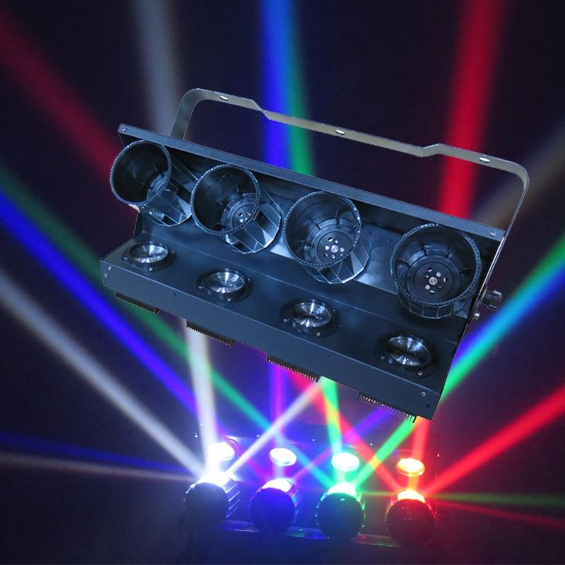 New LED roller scanner light 4 eyes 10w Cree Led 360 degree unlimited drum scanning effect disco light