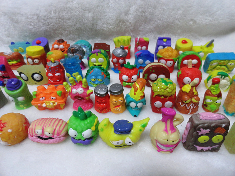 O for U HOTSALE Original The Grossery Gang Mini Action Toys Figures Kids Playing Model Dolls Christmas Gift Toy 20Pcs/lot 48pcs lot action figures toy stikeez sucker kids silicon toys minifigures capsule children gift